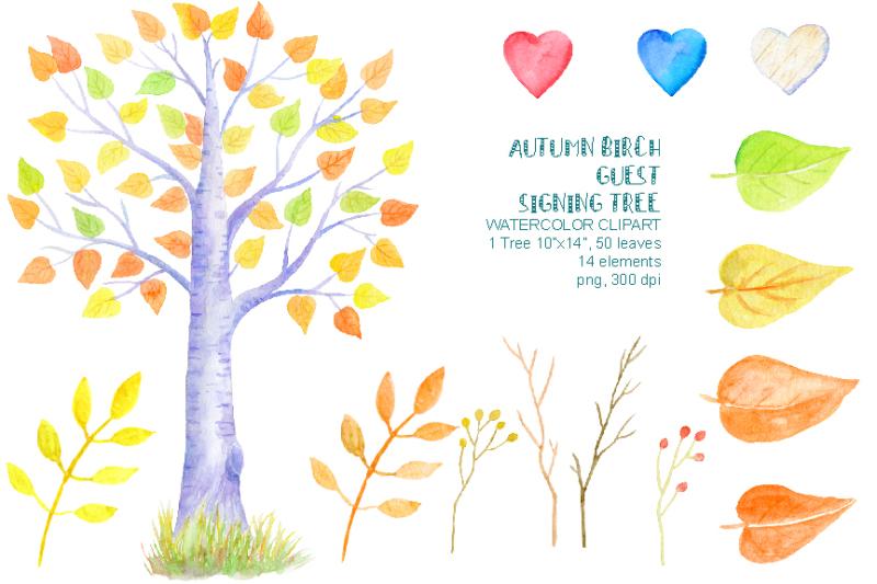 autumn-birch-guest-signing-tree