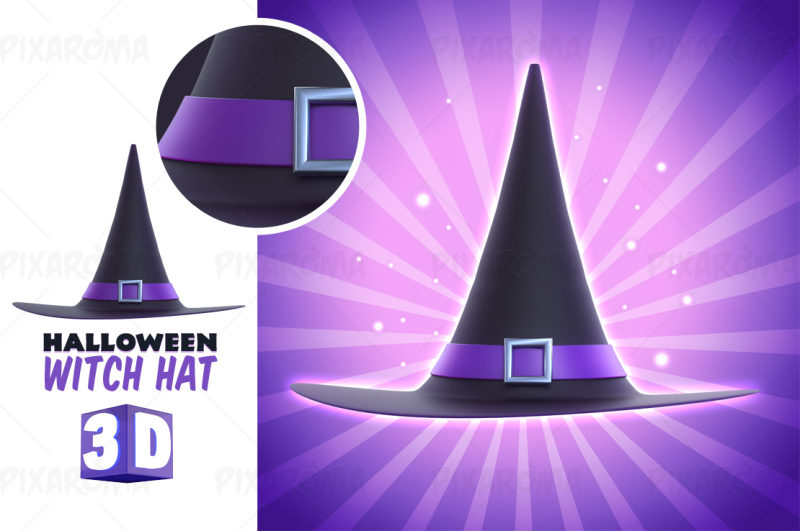 halloween-witch-hat-3d