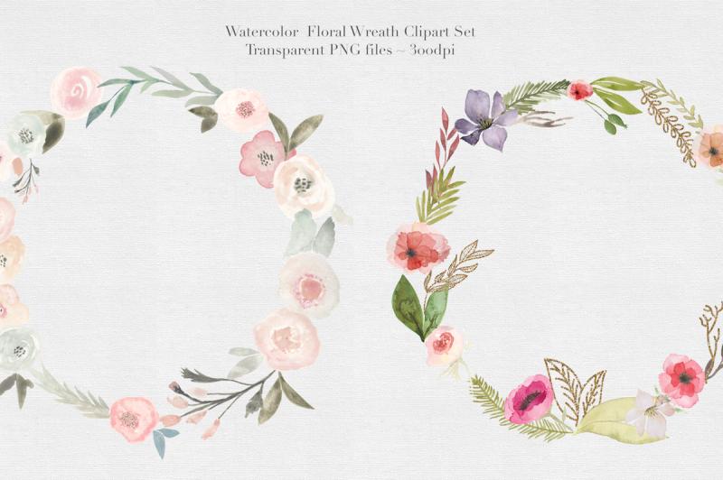 watercolor-floral-wreaths