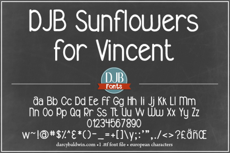 djb-sunflowers-for-vincent-font