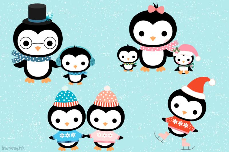 cute-penguin-family-clipart-set-christmas-penguins-winter-penguin-characters-clipart