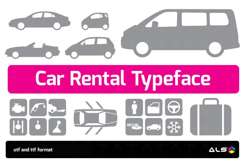 car-rental-typeface