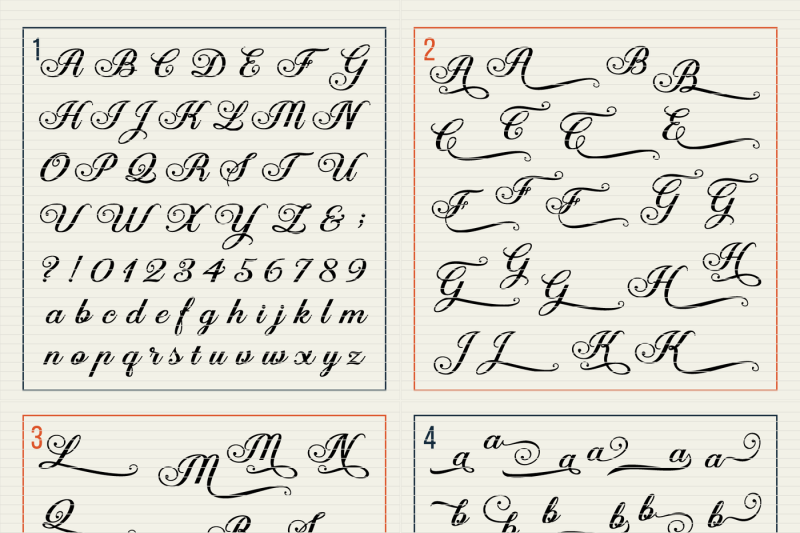 Fancy Elegant Cutfile Alphabet packed with Swashes! – SVG