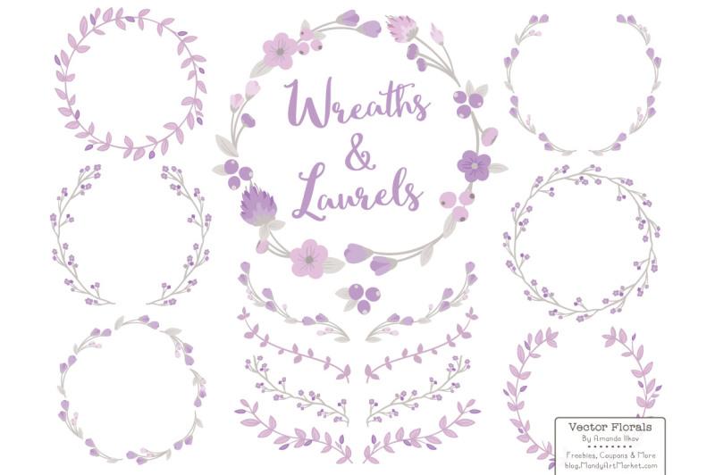 lavender-floral-wreath-set