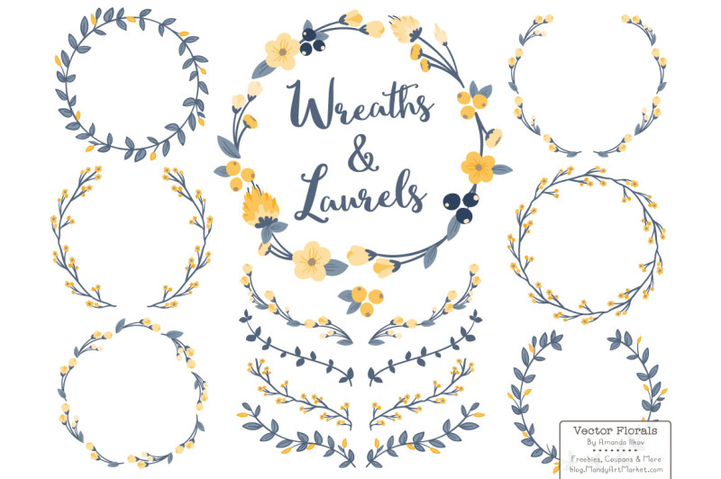 navy-and-lemon-floral-wreath-set