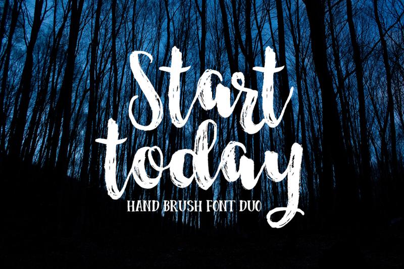 start-today-brush-font-duo