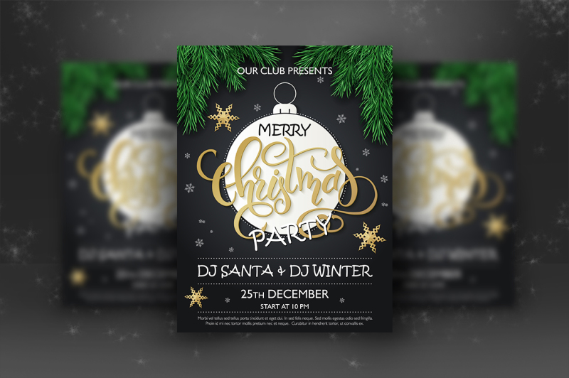 christmas-party-lettering-posters