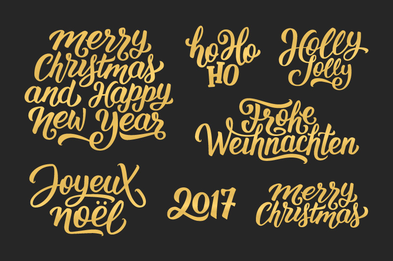 Lettering With Christmas Greetings By Yurlick Thehungryjpeg Com