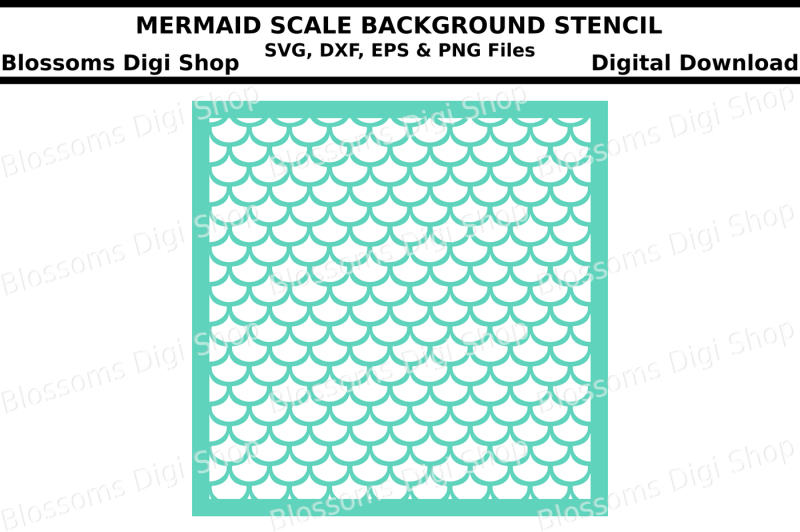 mermaid-scales-background-svg-dxf-eps-and-png-cut-files