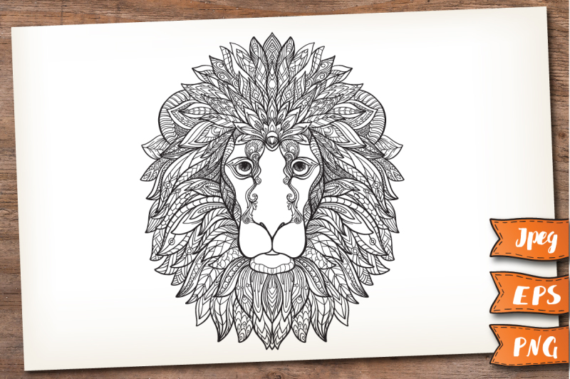 lion-color-and-patterned