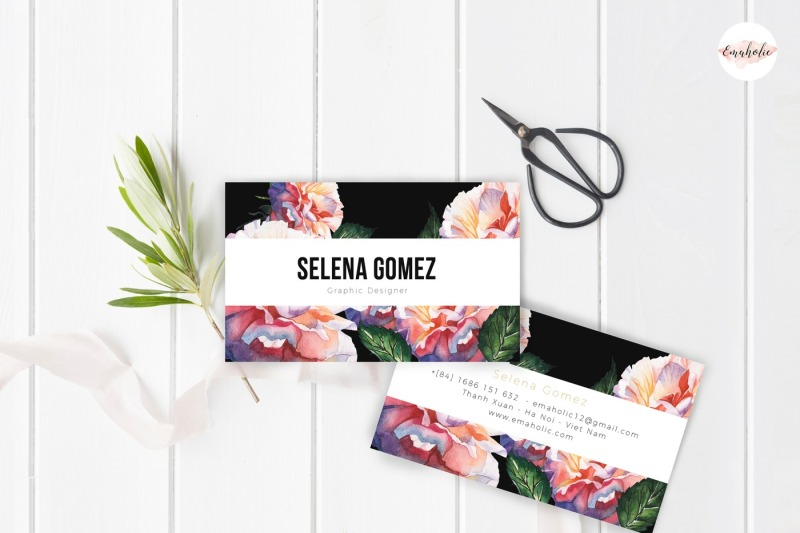 elegant-floral-business-card-template
