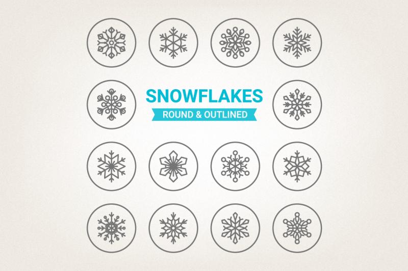 circle-snowflakes-icons