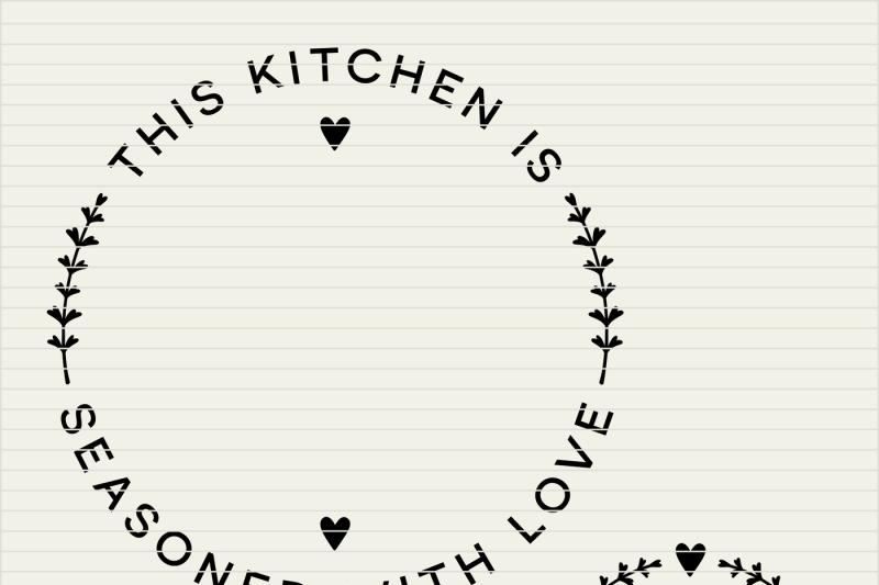 Download DIY personalize SVG Kitchen Seasoned with Love monogram ...