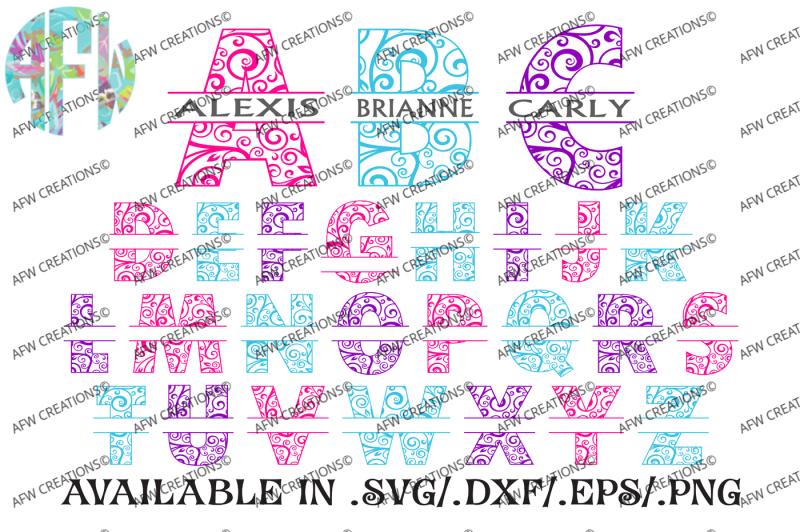 split-swirl-ornament-letters-2-svg-dxf-eps-digital-cut-files