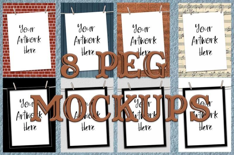 Free Peg mockups (PSD Mockups)