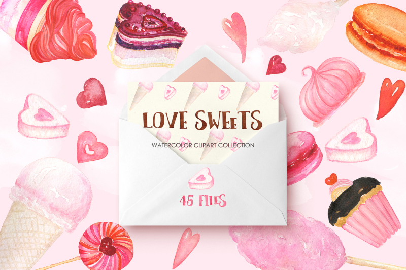 love-sweets-watercolor-clipart