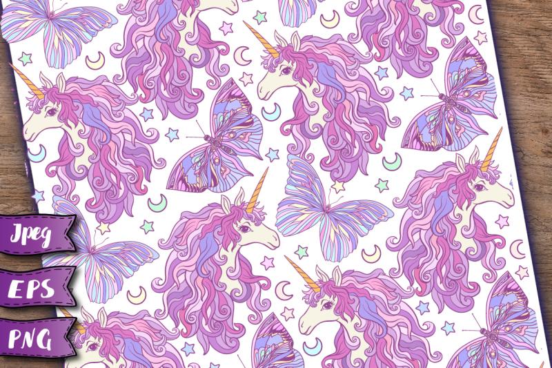 unicorn-seamless-patterns-set-2