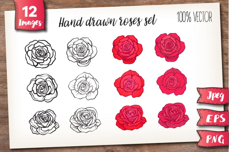 red-roses-set