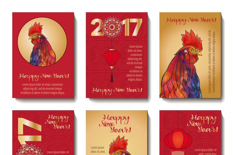 rooster-new-year-banners
