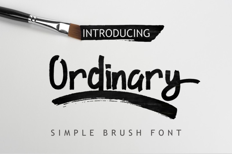 ordinary-brush-font