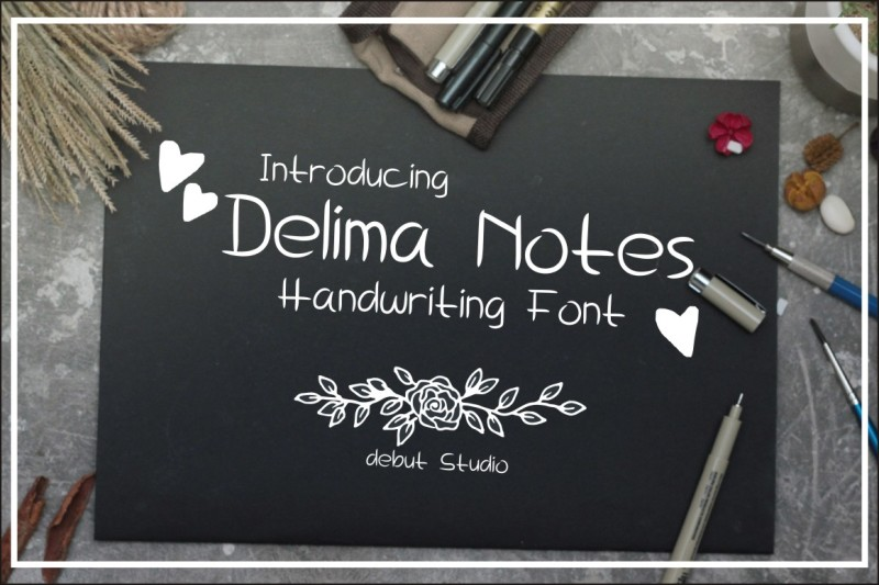 delima-notes-handwriting-font
