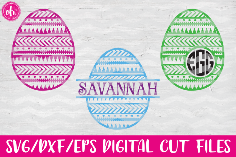 aztec-patterned-easter-eggs-svg-dxf-eps-cut-files