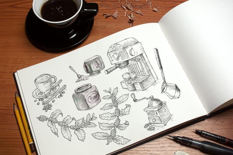 watercolor-break-time-coffee