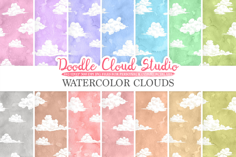 watercolor-clouds-digital-paper-cloud-pattern-pastel-watercolor-background-instant-download-for-personal-and-commercial-use