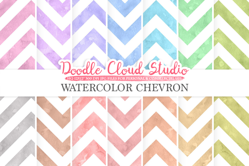 watercolor-chevron-digital-paper-zigzag-patterns-pastel-colors-watercolor-background-instant-download-for-personal-and-commercial-use