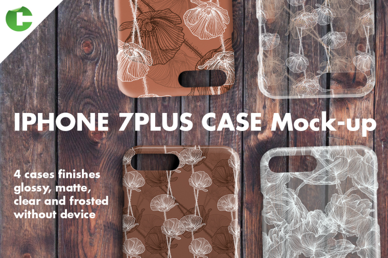 Free Iphone 7 Plus case Mock-up (PSD Mockups)