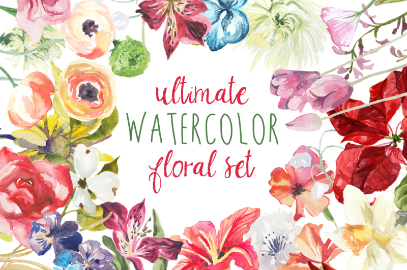 the-ultimate-watercolor-floral-set
