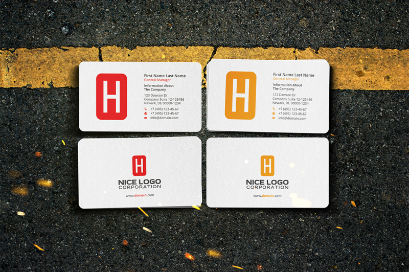 business-card-letter-h
