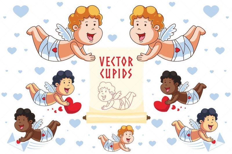cartoon-vector-cupid-characters