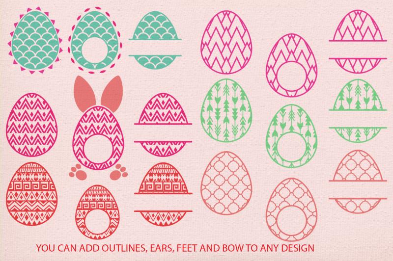 Easter Egg Monogram Frames Svg Cricut Easter Svg Egg Svg