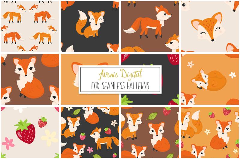 fox-seamless-vector-patterns-paper