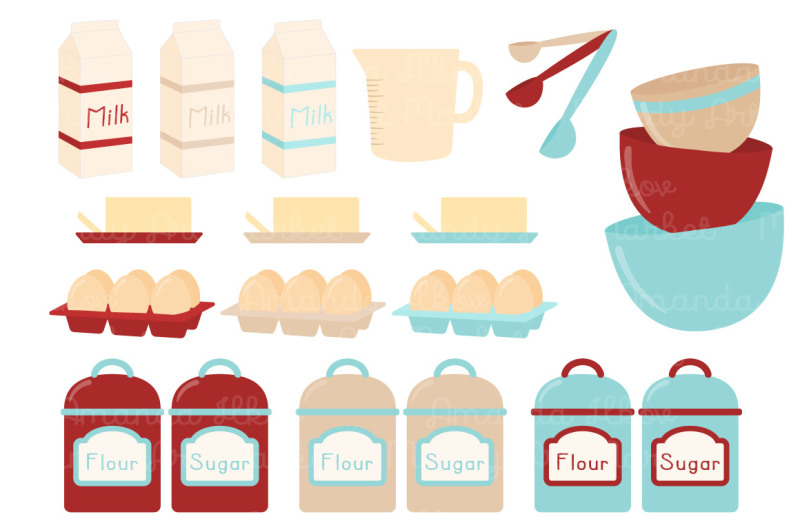 vector-baking-clipart-in-red-and-robin-egg