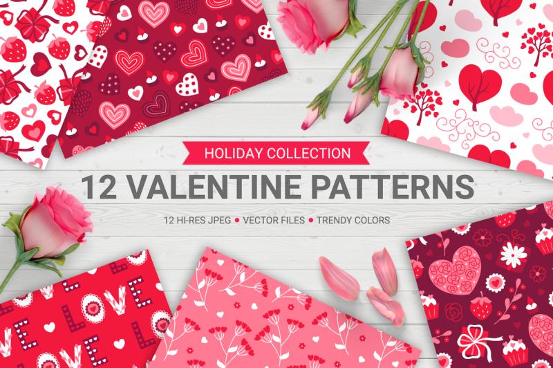 12-valentine-seamless-patterns