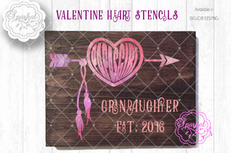 Heart Arrow Stencil Files Svg Dxf Eps Png By Sparkal Designs