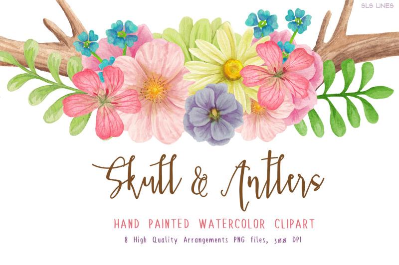 skull-and-antler-floral-arrangements
