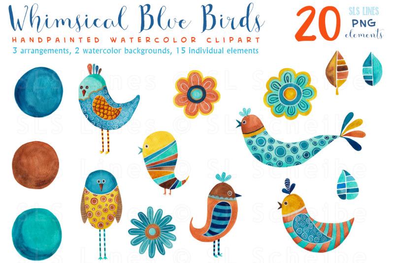 whimsical-blue-birds