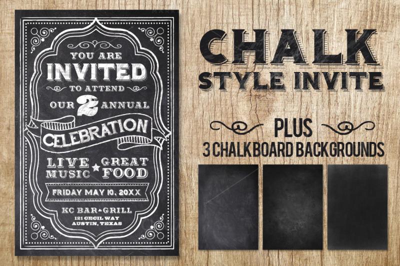 chalk-style-invite