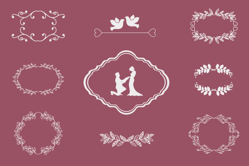 wedding-elements-vector-set