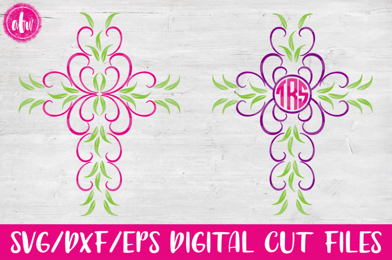 monogram-cross-svg-dxf-eps-cut-files