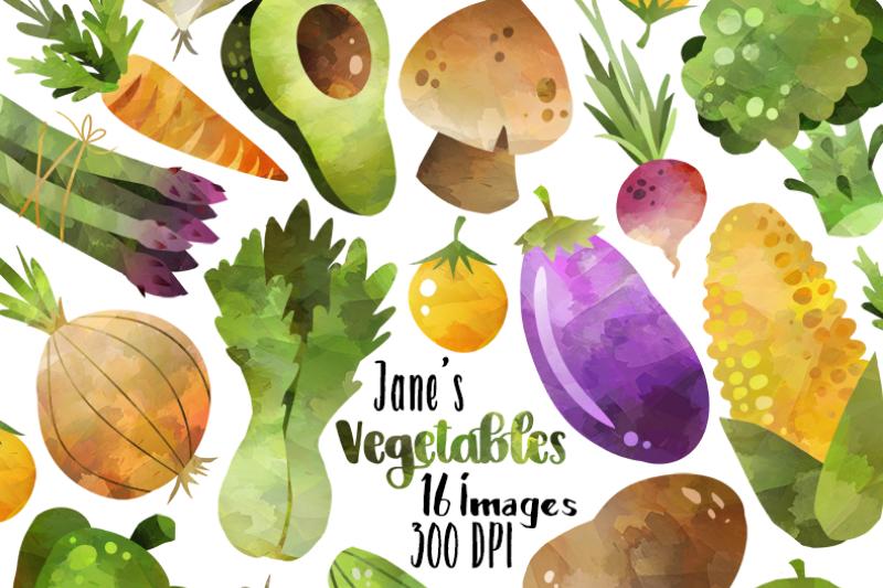 watercolor-vegetables-clipart