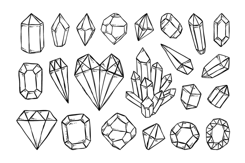 crystals-sketch-illustrations