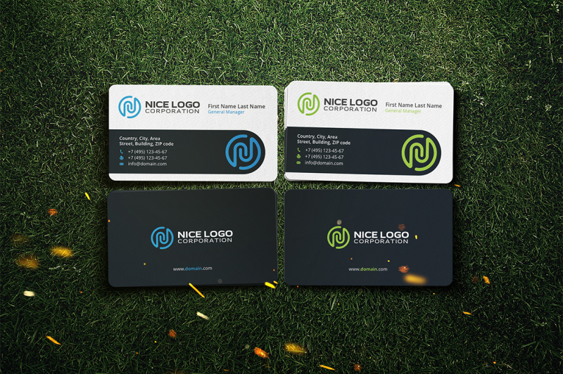 business-card-with-the-letter-n