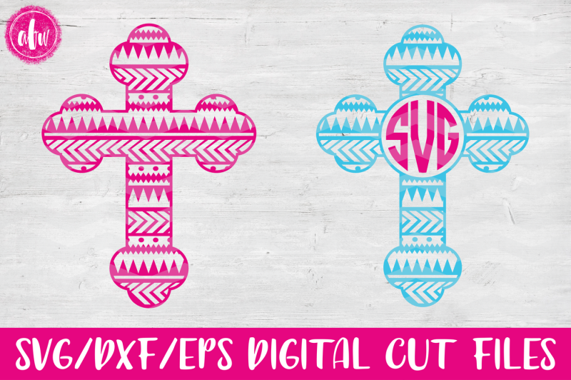 aztec-tribal-monogram-cross-svg-dxf-eps-digital-cut-files