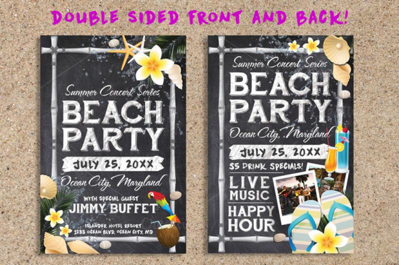 chalk-summer-beach-party-flyer