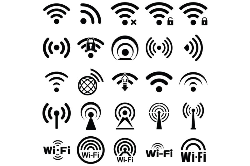 set-of-twenty-five-wifi-icons