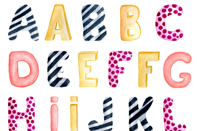 watercolor-alphabet-clipart